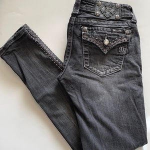 miss me signature skinny dark washed jeans